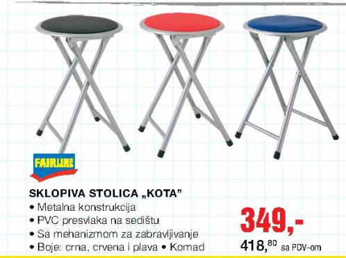 Sklopiva stolica ''KOTA''