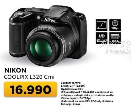 Digitalni fotoaparat Coolpix L320 crni