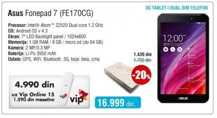 Tablet Fonepad 7 Fe170cg