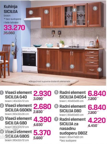Viseći element Sicilija G80s