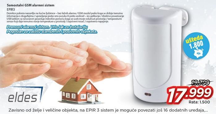 Samostalni Gsm alarmni sistem Epir3 Eldes