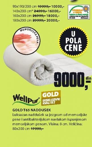Naddušek Gold T65 180x200