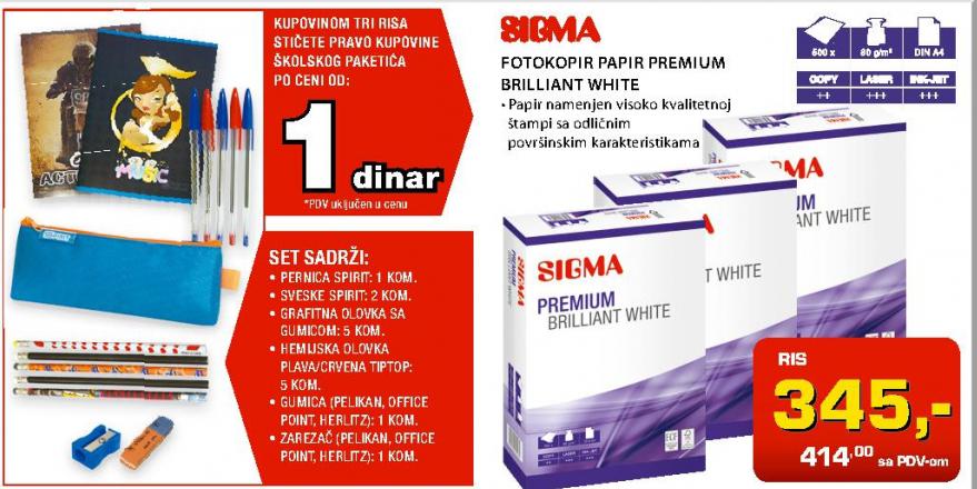 Fotokopir Papir Premium Brilliant White