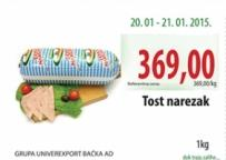 Narezak tost