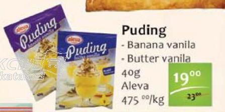 Puding banana vanila