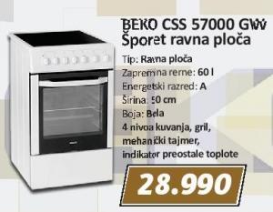 Električni šporet Css 57000 Gw