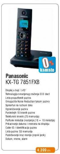 Bežični telefon Kx-Tg7851fxb