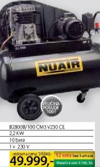 Klipni kompresor B280b/100 cm3 v230 ce Nuair