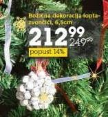 Božićna dekoracija lopta-zvončići
