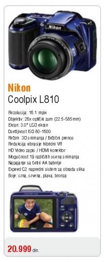 Fotoaparat Coolpix L810
