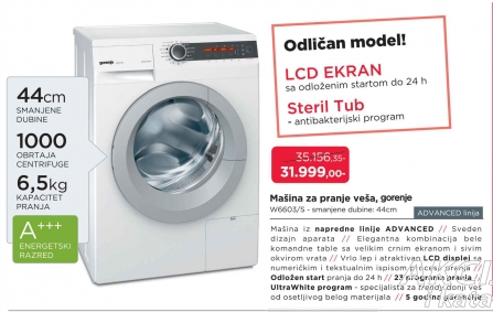 Mašina Za Pranje Veša,W 6603/S