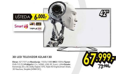 3D televizor LED LCD 42LA6130