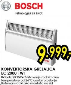 Konvektorska grejalica Ec 2000 1wi