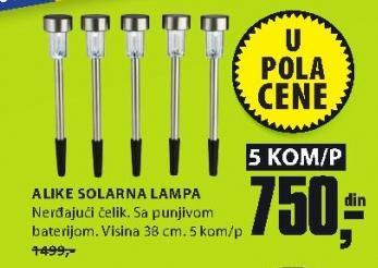 Solarna lampa Aluke