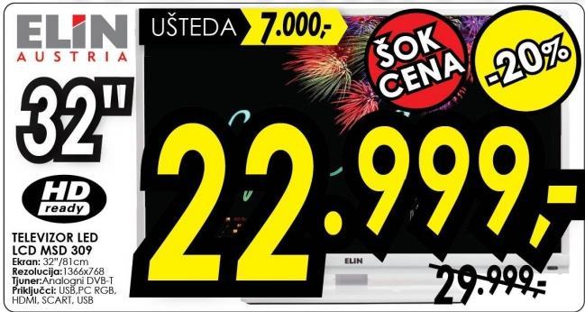 """Televizor LED 32"""" Msd 309"""