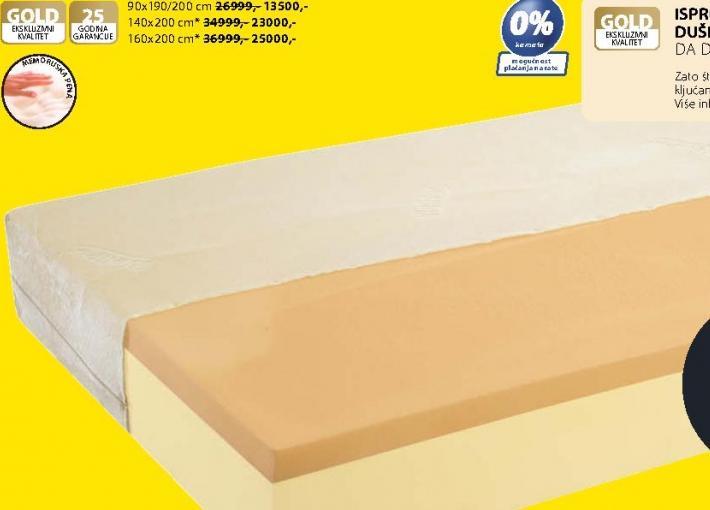 Dušek Gold F30 160x200 cm