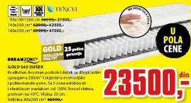 Dušek Gold S40, 80x200cm