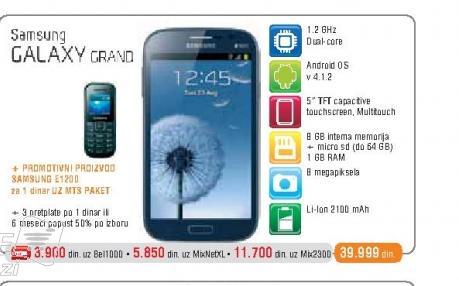 Mobilni Telefon  Galaxy Grand I9082