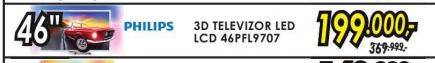 Televizor 3D LED LCD 46PFL9707