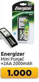 Punjač baterija Mini + 2 baterije AA 2000mAh