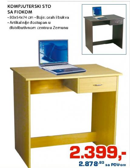 Kompjuterski sto sa fiokom