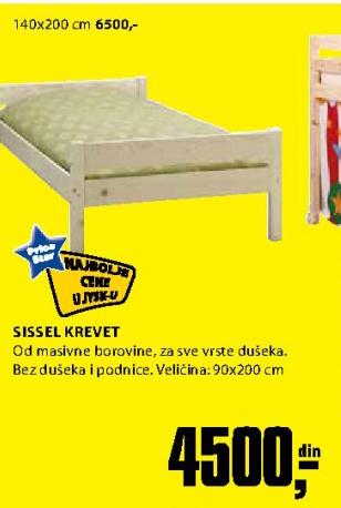 Krevet Sissel 140x200 cm