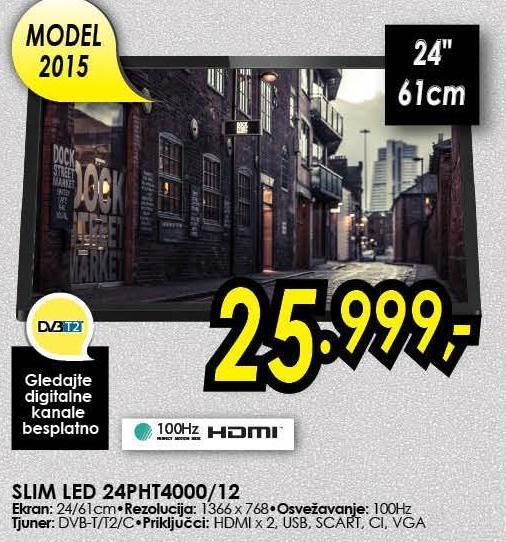 "Televizor LED 24"" 24PHT4000/12"