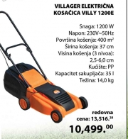 Električna Kosačica Villy  1200E