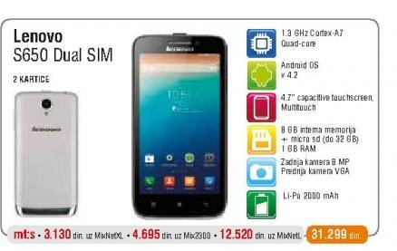 Mobilni telefon S650