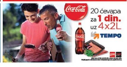 20 Ćevapa za samo 1 dinar uz kupovinu 4x2l Coca Cola soka