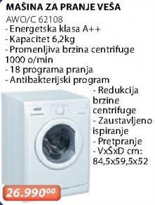 Mašina Za Pranje Veša Awo/C 62108
