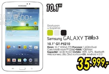 "Tablet Galaxy Tab3 10.1"" Gt-P5210"