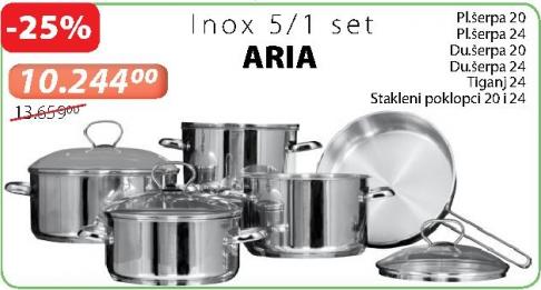 Set posuđa za kuvanje ARIA