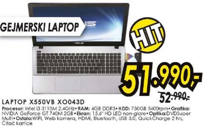 Laptop X550VB XO043D
