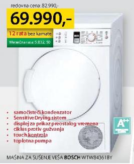 Mašina za sušenje veša WTW 84361BY