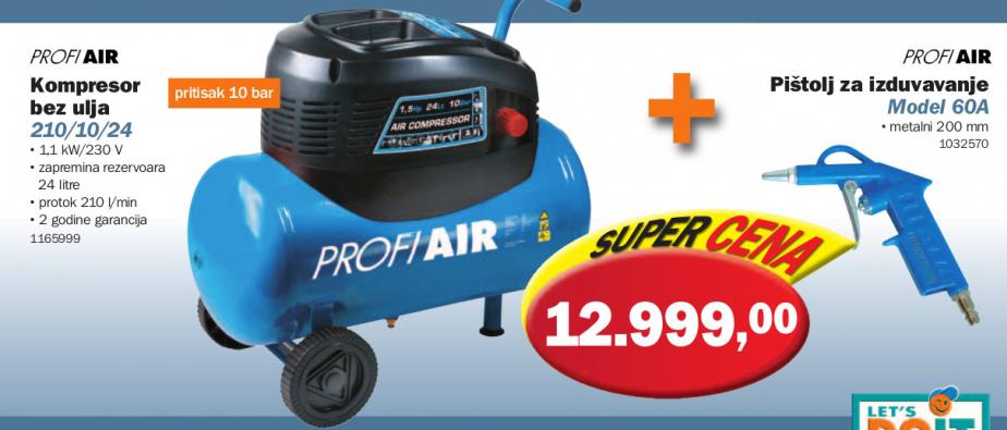 Kompresor Profi Air 210/10/24