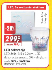 LED čaša