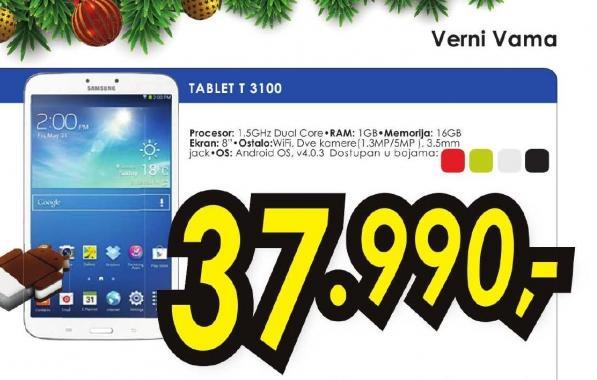 Tablet Galaxy Tab 3 T3100