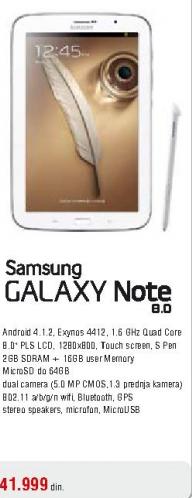 Tablet GALAXY TAB3 8.0