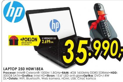 Laptop 250 H0W18EA