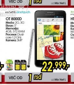 Telefon One Touch Scribe Easy OT 8000D