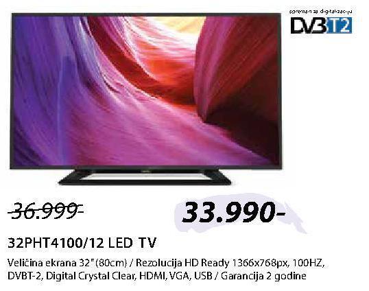 "Televizor LED 32"" 32PHT4100/12"