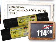 Metaloplast vreće za smeće 120l
