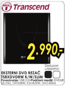 Eksterni DVD rezač Ts8xdvdrw K/w/slim