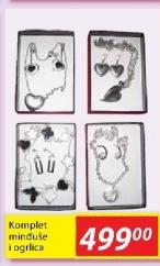 Komplet minđuše i ogrlica