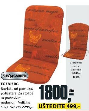 Baštenski jastuk Egebjerg Sungarden
