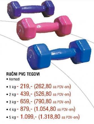 Ručni PVC teg 1kg