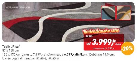 Tepih Pisa 80x150 cm