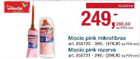 Mop Mocio pink Mikrofibras