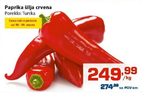 Paprika crvena šilja